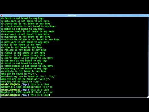 List BASH Shortcut Keys - bind - Linux - tutorial