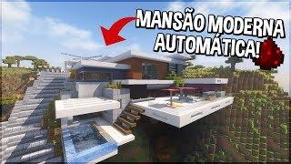 Minecraft: ESSA MANSÃO MODERNA É TOTALMENTE AUTOMÁTICA!