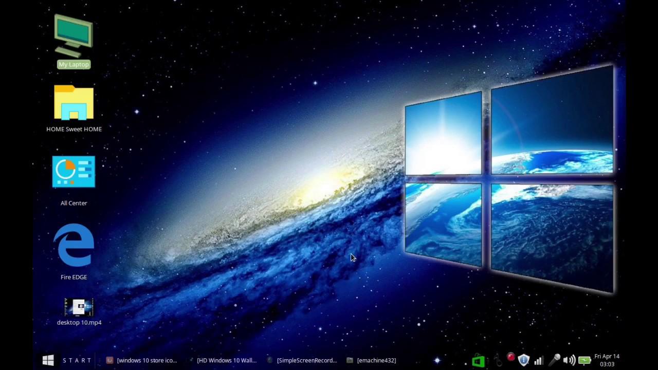 Windows 10 desktop under linux 2017 - YouTube