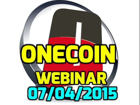 Onecoin || Onecoin 2015: Webinar 07/04/2015 Dr Ruja Ignatova