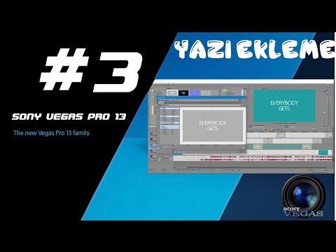 Son Vegas Pro 13 Yazı ekleme, lyrics ekleme