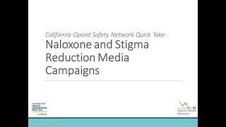 Naloxone and Stigma Reduction Media Campaigns