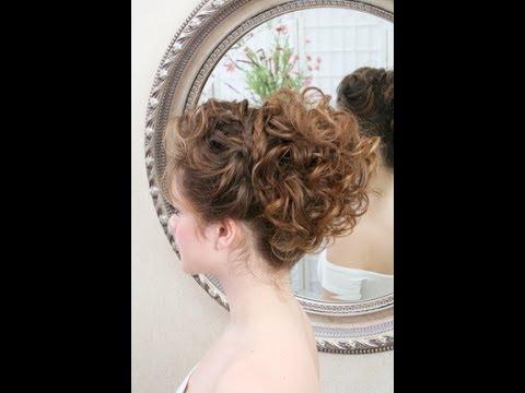 Wedding hair video - updo - YouTube