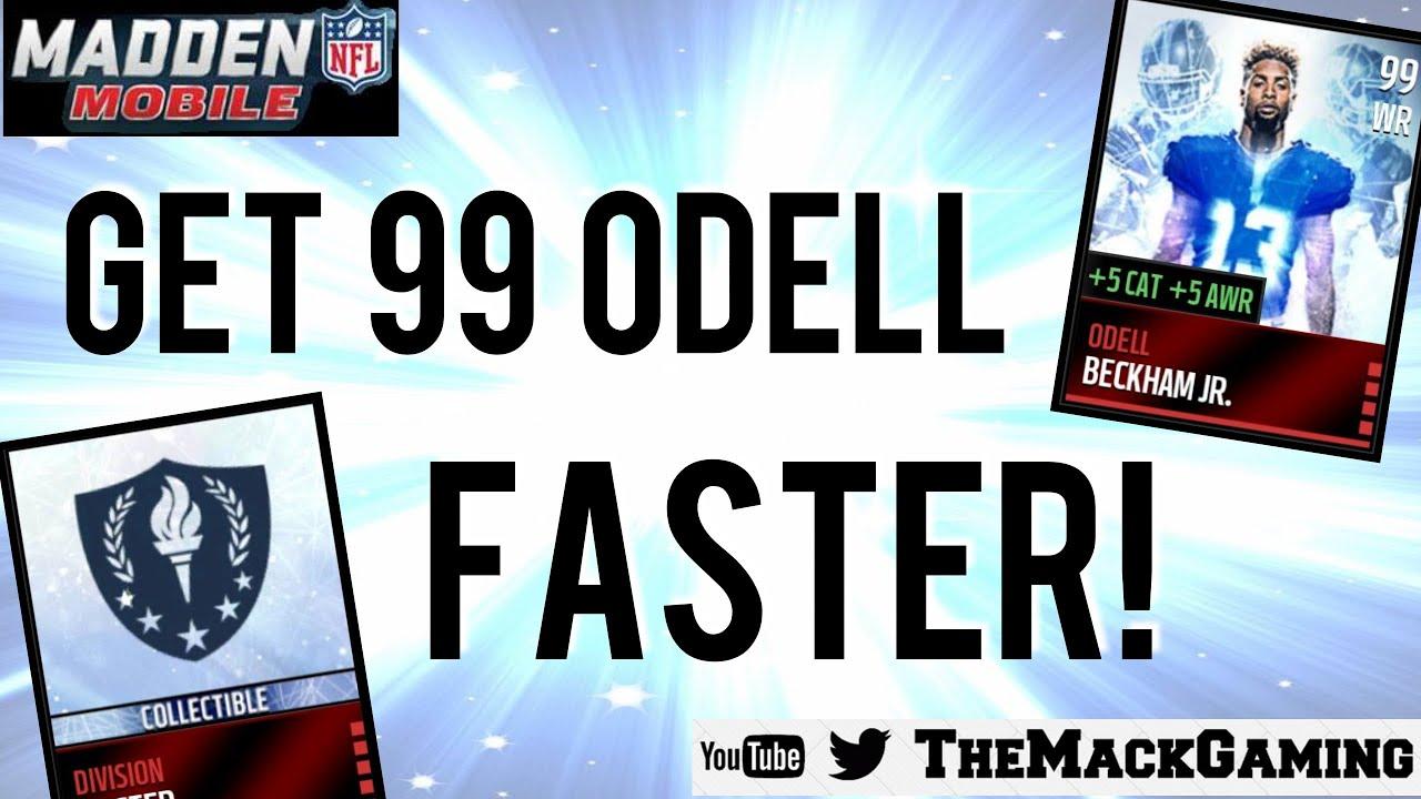 How To Get 99 Odell Beckham Jr FASTER Madden NFL