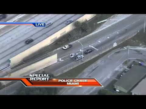 (Full video) Police chase murderer in Miami
