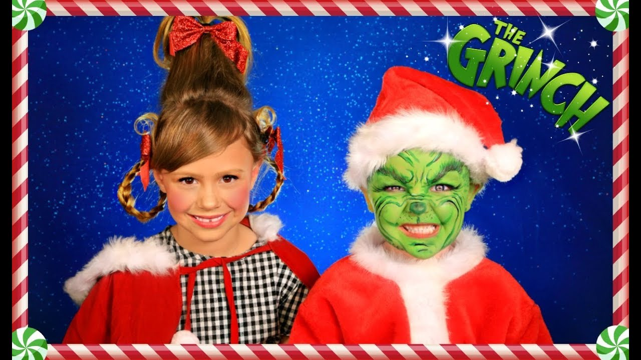 c48e399fda61 The Grinch and Cindy Lou Who Christmas Makeup, Hair, and Costumes ...