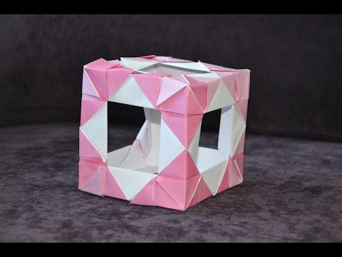 How To Fold An Origami Open Cube