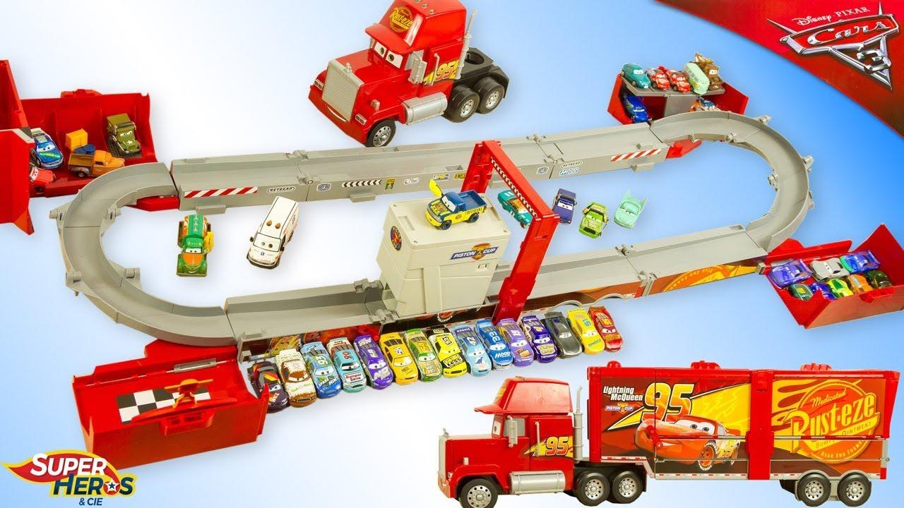 Le plus grand camion mega mack transformable disney cars flash mcqueen jouet youtube kids youtube - Cars camion mack ...