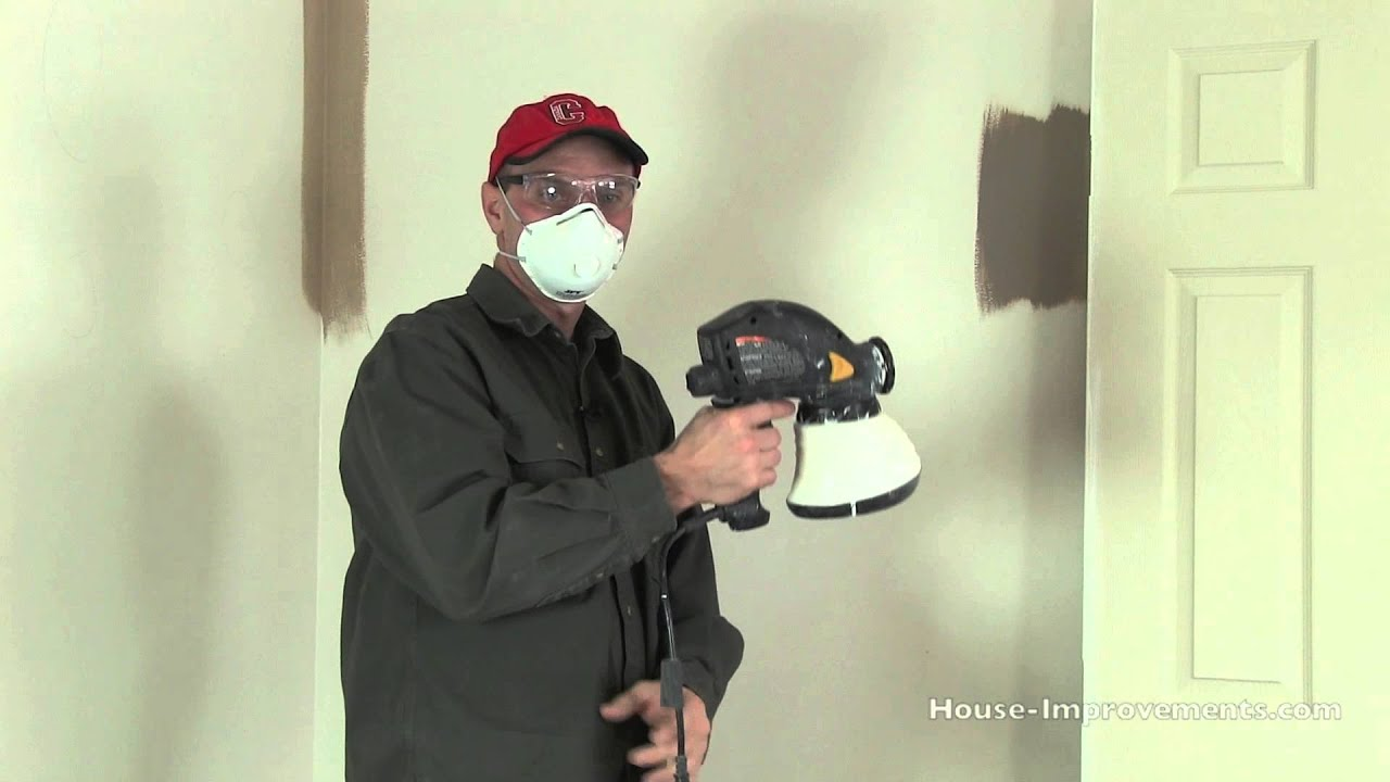 right wall a spraying is your home interior paint sprayer job for painting