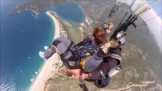 Paragliding Tandemsprong Sky Sports, Oludeniz Fethiye Turkey 2013