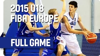 Italy v Finland - Group C - Full Game - 2015 U18 European Championship Men
