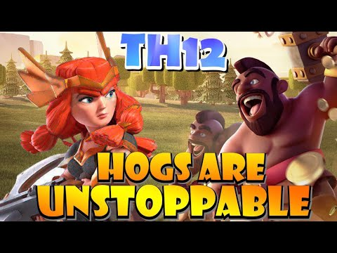 TH12 Queen Charge Hog Attack Strategy Is UNSTOPPABLE! ESL Mobile Open Season 2 Tournament