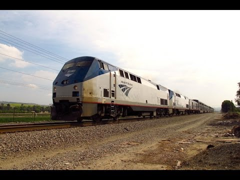 """Goodbye Amtrak """"Daylight"""" Sunset Limited Train #2 in Los Angeles"""