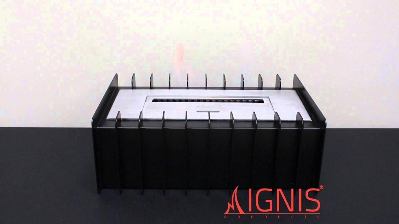 ignis ethanol fireplace grate ebg1200 youtube