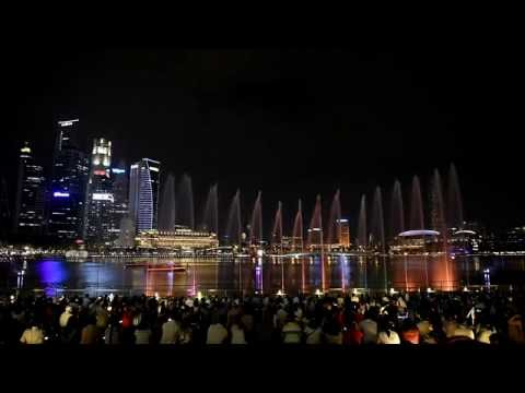 Marina Bay Sands Singapore Wonder Full - Light and Water Show