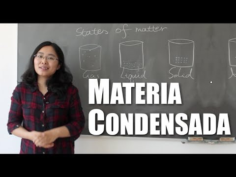 ¿Qué es la materia condensada?