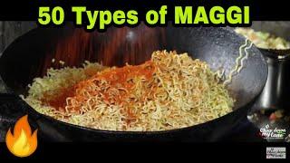 50 types of street style maggi    Night Street food    AM PM Maggi