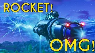 STREAMERS REACT TO CRAZY ROCKET LAUNCH IN FORTNITE BATTLE ROYALE! - Fortnite Funny Moments