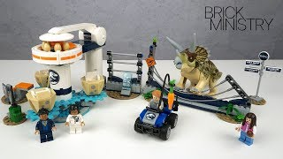 LEGO Jurassic World  2019 ● TRICERATOPS RAMPAGE ● Speed Build [LEGO 75937]