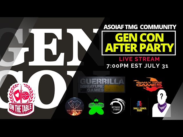 ASOIAF TMG Community After Party Livestream