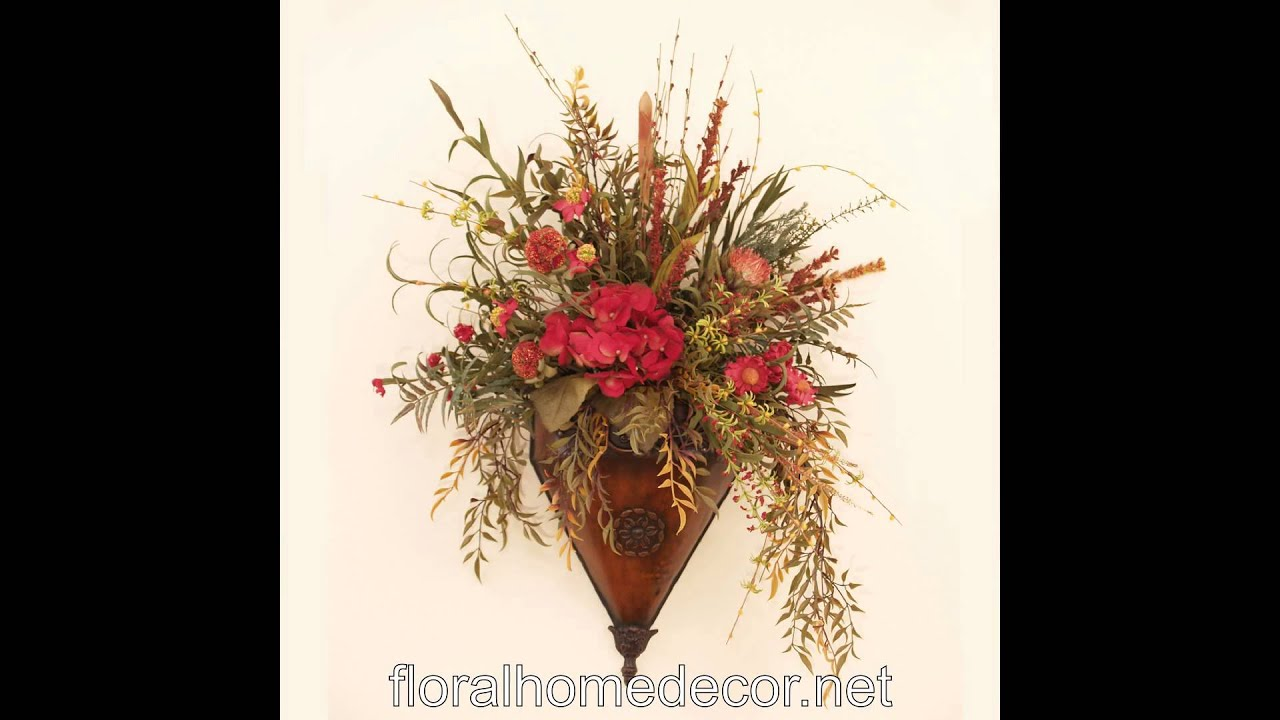 Silk Flower Wall Sconces - YouTube on Flower Wall Sconces id=95172