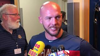 Tyler Flowers discusses sharing Atlanta Braves catching duties with Brian McCann
