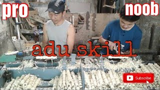 Video Bubut kayu (proses pembuatan gagang stempel kayu) download MP3, 3GP, MP4, WEBM, AVI, FLV November 2018