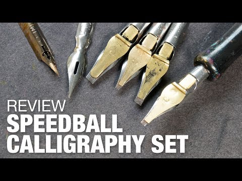 Review: Speedball 6-Nib Calligraphy Lettering Set