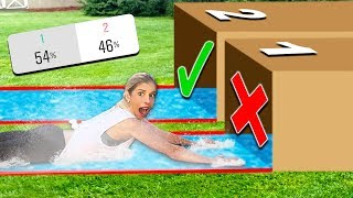 Download Try Not To Water Slide Through The Wrong MYSTERY BOX! (you decide) Mp3 and Videos
