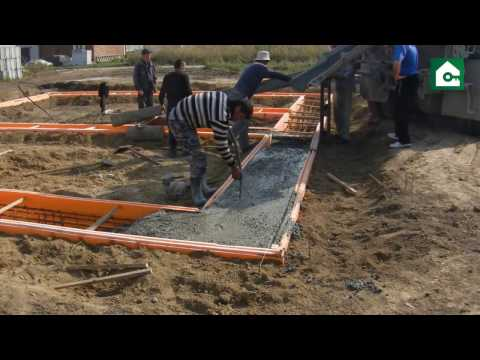 Строительство фундамента на буронабивных сваях