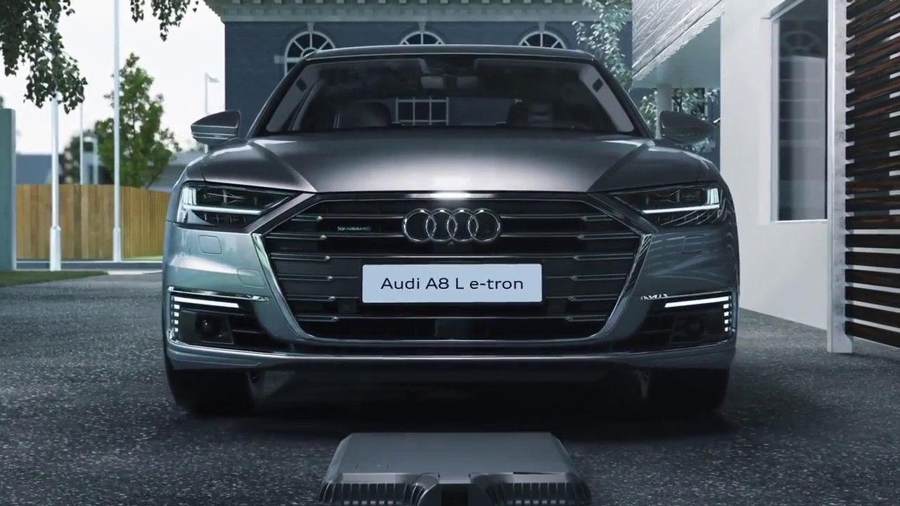 2018 audi a8 l e tron wireless charging youtube. Black Bedroom Furniture Sets. Home Design Ideas