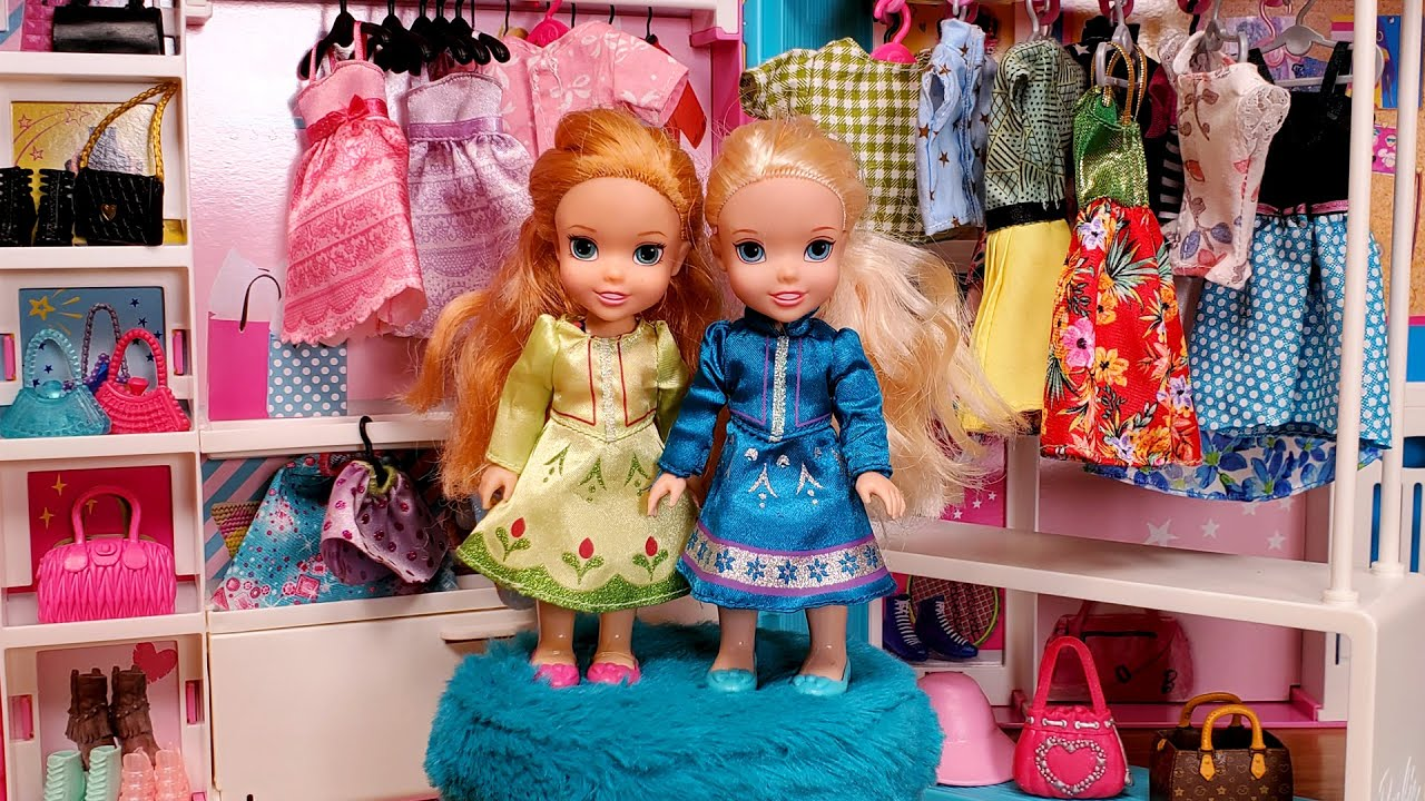 Download Fashion boutique ! Elsa & Anna toddlers are shopping for dresses - Barbie - LOL
