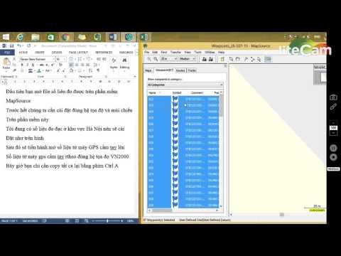 Chuyển dữ liệu đo đạc từ máy GPS cầm tay sang file Excel