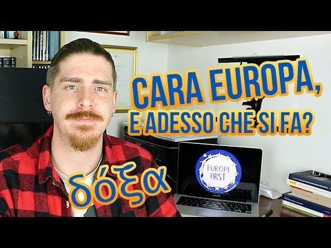 Cara Europa, E Adesso Che Si Fa? - DOXA #europefirst
