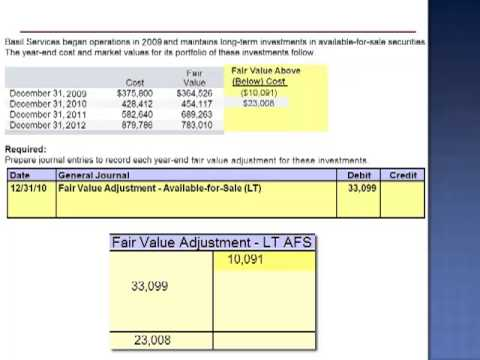 Record Each Year End Fair Value Adjustment Exercise 15 11