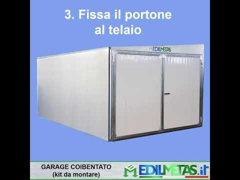 Prefabricated garage box insulated flatpack