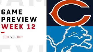 Chicago Bears vs. Detroit Lions | Week 12 Game Preview | NFL Playbook