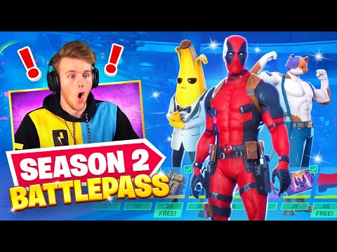 *NEW* DEADPOOL IN FORNITE?! (100% Unlocked S2 Battlepass)
