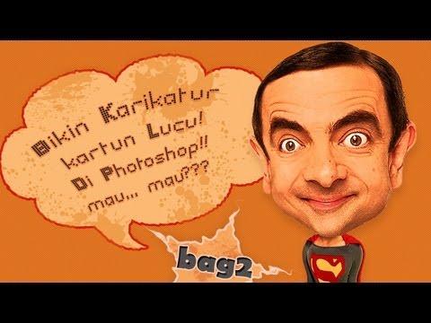 Bikin Karikatur Kartun Lucu Di Photoshop Bag 2 Youtube