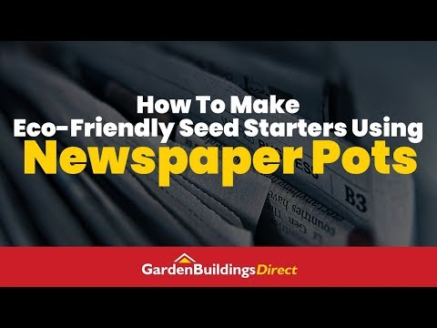 How To Make Eco-Friendly Seed Starters Using Newspaper Pots - Gardening DIY Hack To Save Money