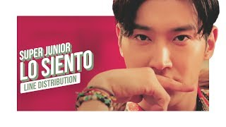 SUPER JUNIOR - Lo Siento Line Distribution (Color Coded) | 슈퍼주니어 - 로시엔토