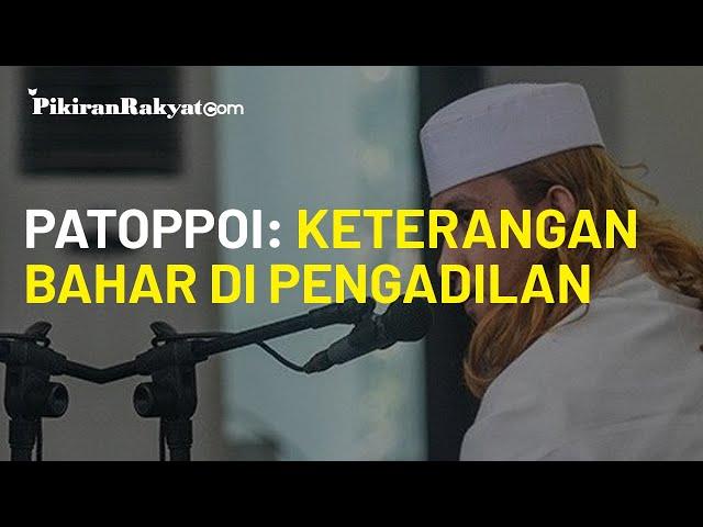 Status Tersangka dan Tolak Diperiksa, Patoppoi: Keterangan Habib Bahar Smith Langsung di Pengadilan