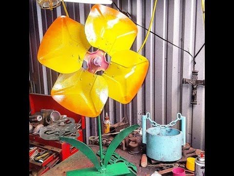 scrap metal yard art by Raymond Guest at Recycled Salvage Design