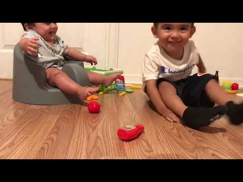 Learning Fruits and vegetables with little brother