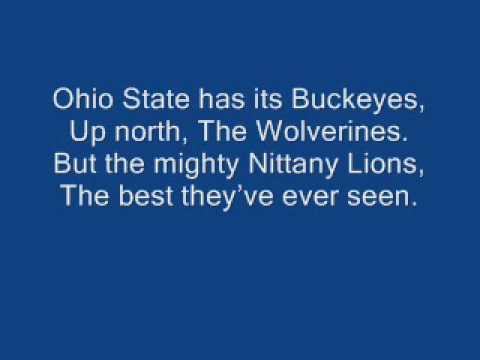 Penn State-Hail to the Lion (lyrics)