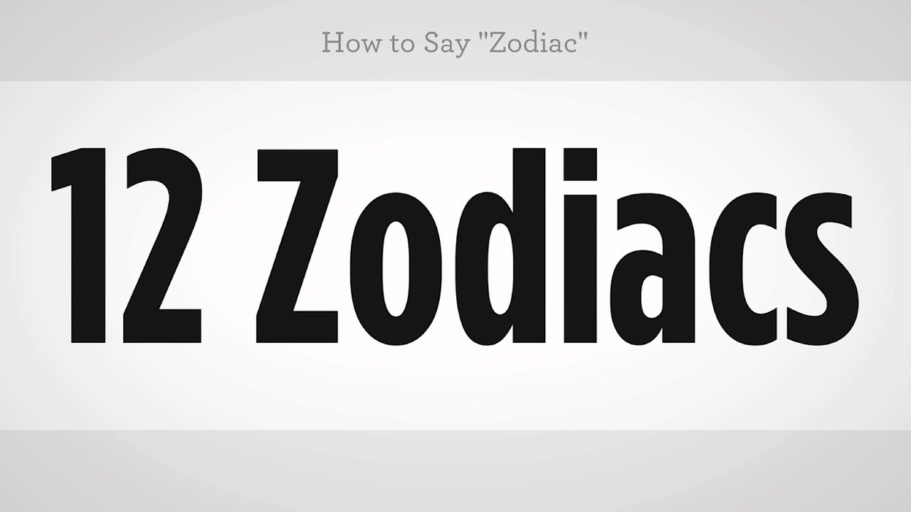 how to say zodiac in chinese