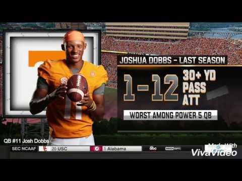 Josh Dobbs Tennessee Highlights