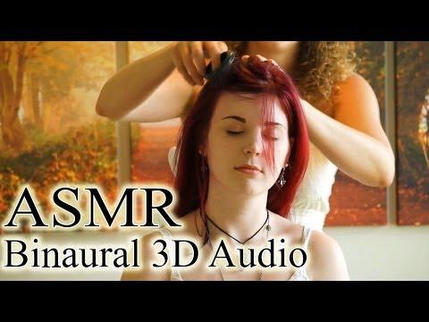Binaural ASMR Scalp Massage, Hair Brushing & Whisper Ear to Ear For Sleep & Relaxation