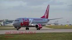 Jet2 | 737-33A | G-CELC | Evening 23L Takeoff | Manchester Airport | HD