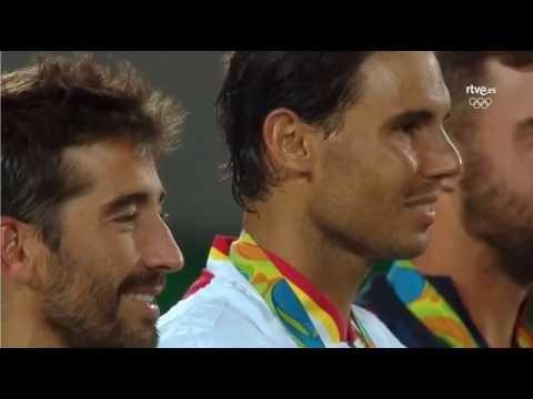 Rafael Nadal & Mark Lopez Doubles Medal Presentation Ceremony